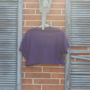 Prince Tops - cropped purple prince graphic tee